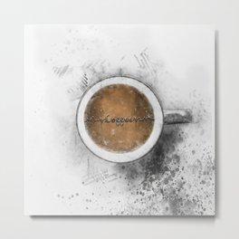 Coffee Heartbeat Metal Print