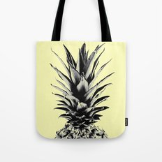 Pineapple in yellow Tote Bag