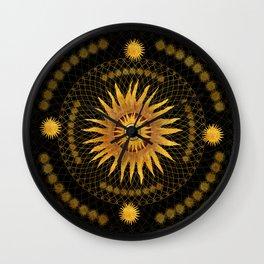 """""""Black & Gold Vault Mandala"""" Wall Clock"""