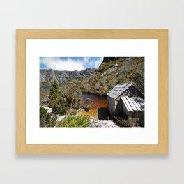 Crater Lake Boatshed Framed Art Print