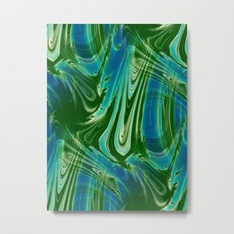 Tropical Colors Abstract Metal Print