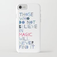 roald dahl iPhone & iPod Cases featuring Believe in magic... by Madi
