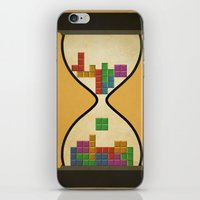 tetris iPhone & iPod Skins featuring tetris by gazonula