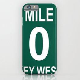 Key West Mile Marker 0 (Zero) U.S. Route 1 (US 1) through the Florida Keys to Key West iPhone Case