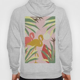 Flamingo jungle pink coral Hoody