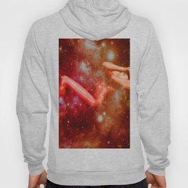 Red Galaxy Woman : Nude Art Hoody
