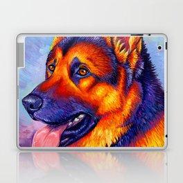 Colorful German Shepherd Dog Laptop & iPad Skin