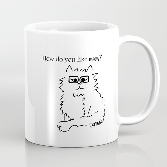 How Do You Like Meow Hipster Kitten by melindatodd
