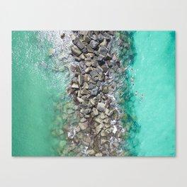 Snorkelers Canvas Print