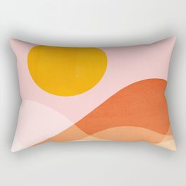 Abstraction_Mountains_SUN_Beach_Ocean_Minimalism_001 Rectangular Pillow