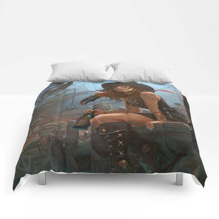 Pirate Haven Tortuga Comforters