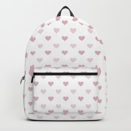 Cute and Adorable Pink Hearts Pattern Backpack