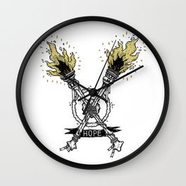 Torches Wall Clock
