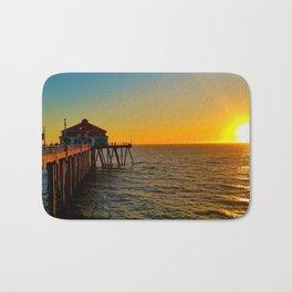 Huntington Beach Pier Sunset 1 Bath Mat