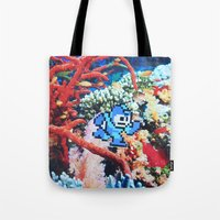 megaman Tote Bags featuring Megaman by John Turck