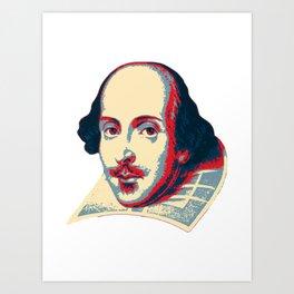 Shakespeare Pop Art Art Print