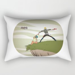 A Daring Escape Rectangular Pillow