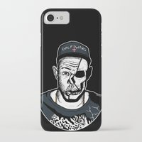tyler the creator iPhone & iPod Cases featuring Golf Wang - Tyler The Creator Skull Ink Print by zombieCraig