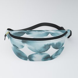 Abstract Ink - Geometric Teal Fanny Pack
