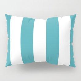 Big Lines Turquoise Pillow Sham