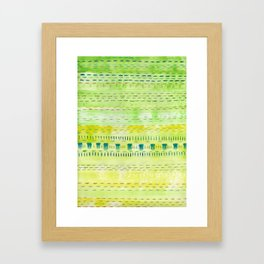 Meadow Stitch Framed Art Print