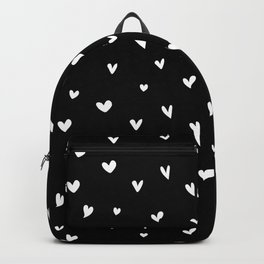 Black and White Hearts Backpack