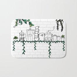 Coffee Shop Shelf Bath Mat