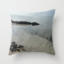 Your own private beach...  Throw Pillow