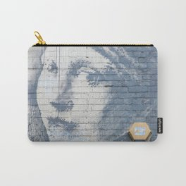 """Banksy """"Girl with a Burst Eardrum"""" Carry-All Pouch"""