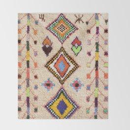 (N15) Oriental Traditional Bohemian Moroccan Artwork. Throw Blanket