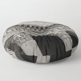 The Pantheon black and white Floor Pillow