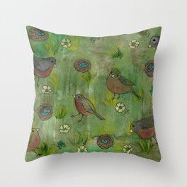 Heralds of Spring Throw Pillow