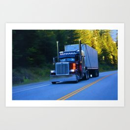 The Revelstoke Run Cargo Truck Art Print