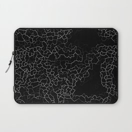 White on Black Crackle Laptop Sleeve