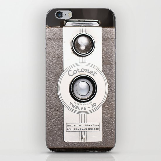 1950 Vintage Coronet twelve-20 twin lens box camera iPhone & iPod Skin