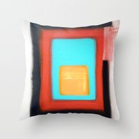 rothko Throw Pillows featuring Living Rothko by NoMoreWinters