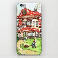 gnome iPhone & iPod Skins featuring Gnome Home by Georgia Dunn