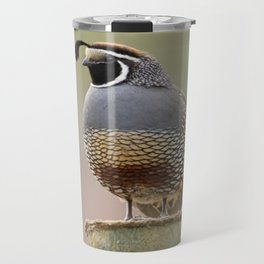 California Quail Travel Mug