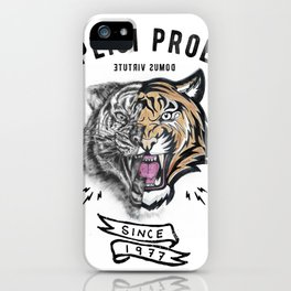 DUPLICI PROELIO Tiger by leo Tezcucano iPhone Case