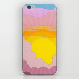Sixties Inspired Psychedelic Sunrise Surprise iPhone Skin