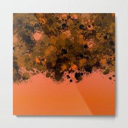 paint splatter on gradient pattern or Metal Print