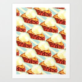 Cherry Pie Pattern Art Print
