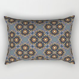 Beautiful Beadwork Inspired Print Rectangular Pillow