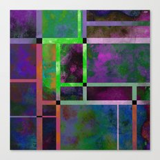 Pastel Textures - Abstract, pastel themed, geometric painting Canvas Print