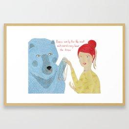 Basco the Extraordinary Bear Framed Art Print