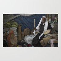 ali gulec Area & Throw Rugs featuring Abu Ali by Michael Bou-Nacklie