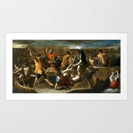 LANFRANCO, GIOVANNI DI STEFANO Terenzo, Parma, 1582 - Roma, 1647 Miniatura autor Roman Naumachia Ca. Art Print
