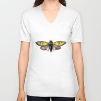 insect V-neck T-shirts featuring Insect by Freja Friborg