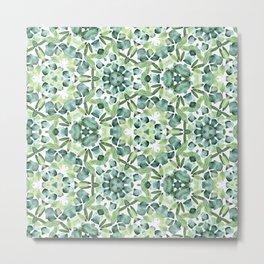 Green petal kaleidoscope  Metal Print