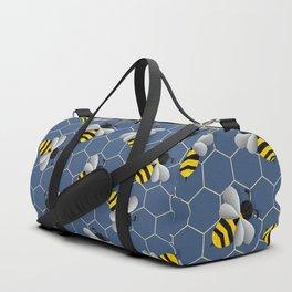 Bumbled Blue Duffle Bag